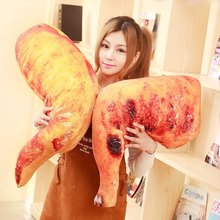 hot deal buy 1pc about 35-60cm 6 patterns chicken legs duck legs roasted wings plush stuffed toys creative bedroom funny pillow sofa cushions