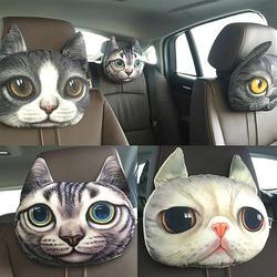 Творческий Прекрасный 3D моделирование мягкая игрушка-Кот подголовник автомобиля подушки Детские Декор
