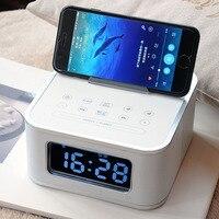 S1BT Alarm Clock Bluetooth Speaker Subwoofer Home Hotel Wireless Call Radio Bedside Desktop Alarm Clock Speaker Mobile Phone