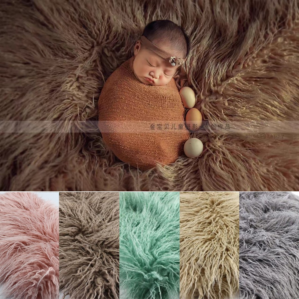 150x100cm 5colors Newborn photo props faux fur basket filler stuffer baby Photography backdrops background blanket fleece baby newborn faux fur photography photo props blanket basket stuffer rug beanbag background backdrop wine red