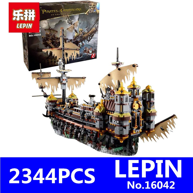 LEPIN 16042 2344Pcs Compatible Pirate of The Caribbean Mary Speed Set Children Building Blocks Bricks Children Toys  71042 Slien lepin 16002 22001 16042 pirate ship metal beard s sea cow model building kits blocks bricks toys compatible with 70810