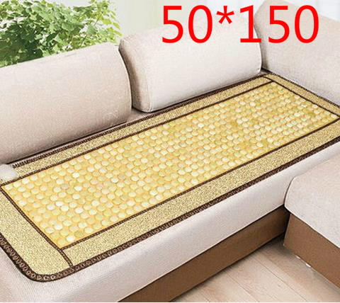 Comfortable home massage mattress topaz sofa cushion germanium stone tomalin heating body massager health cushion 220 v new heating jade stone infrared massage sofa cushion with temperature display bed sofa mattress health care germanium stone mat
