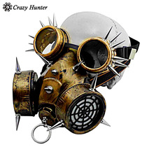 Steampunk Gothic Vintage Spikes  Gas Mask Goggles Cosplay Props Halloween Costume Accessories Men/Women