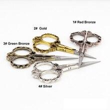 Фотография 1PC Stainless Steel Classic Vintage Plum Blossom Straight Scissors Sewing Shears Tailor Scissor Embroidery Scissor DIY Tools