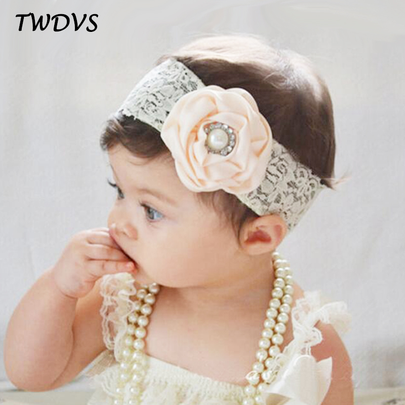 TWDVS Newborn Lace Band Flower Headband Newborn Lace Wrap Hair Elastic bands Flower Headwear Hair Accessories W239 bebe girls flower headband four felt rose flowers head band elastic hairbands rainbow headwear hair accessories
