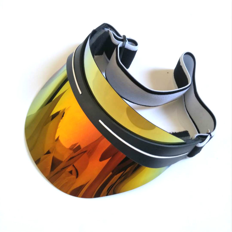 Verano de 2018 mujeres Unisex los hombres sombrero de Sol de Color caramelo vacío transparente de plástico superior de PVC ja sombrilla sombrero visera tapas bicicleta sunhat