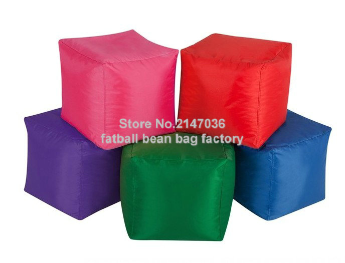 GREEN Square many colors sitting cube outdoor waterproof bean bag pouf ottoman