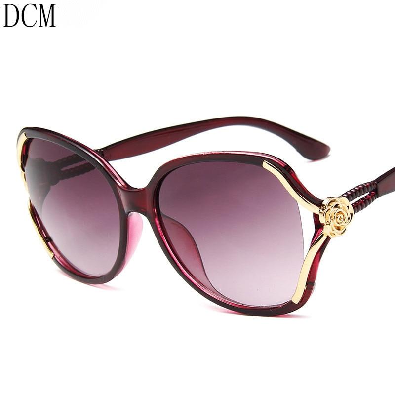 Gradient Sunglasses Goggle Driving Vintage Luxury Mirror Women Eye-Wear Elegant Female