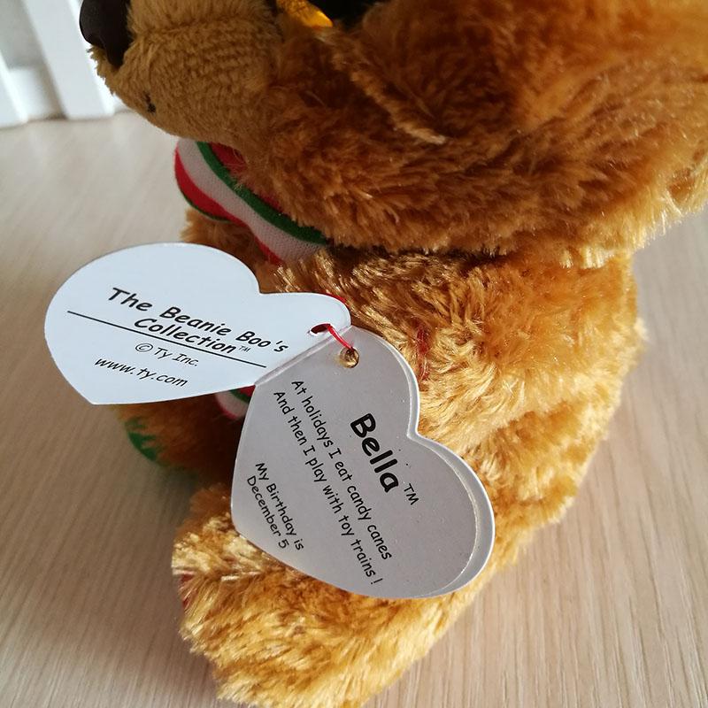 Ty Silk Beanie Boos Collection Plush Toy 15cm Bella Bear Soft 6 inch ... c269d32b6e1c