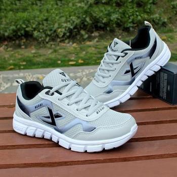 Alta qualidade 2019 homens sapatos adulto luz homens tênis 4 cores respirável sapatos casuais masculino zapatos hombre plus size 1