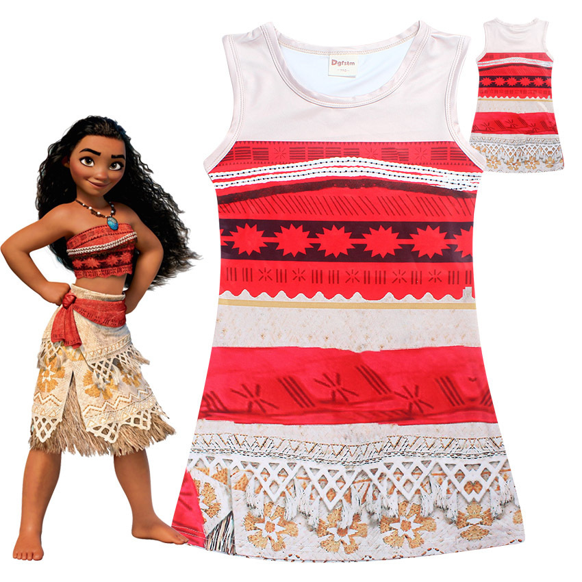 Girl Dress Baby Girl Clothes Princess Moana Cosplay Dress For Children Halloween Party Beach Dress Girl Vaiana Gift baby dress shawl girl princess dress