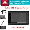 """Venta caliente Nueva HUION 580 8 """"X 5"""" gráfico Tabletas de Lápiz Profesional Firma Digital Tableros de Gráficos USB Pen Tablet PC Negro"""