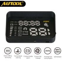 AUTOOL X220 HUD Head UP Display Projector Gauge Speedometer Film OBD2 II Digital Car Speed Windshield Auto Diagnostic Camera OBD