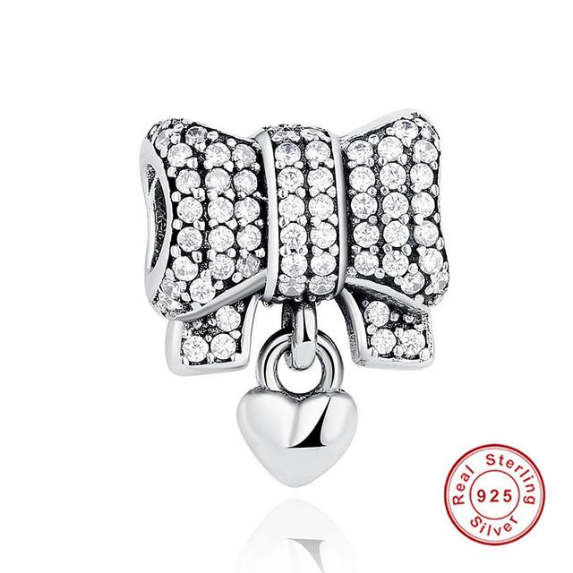 2017 Fahion Venda Quente Authentic 925 Sterling Silver Knot Colar Do Encanto Do Coração Fit Pan Pulseira Originais amp DIY Acessórios