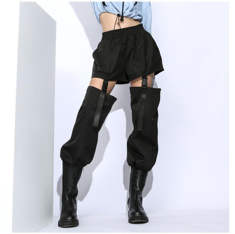Harajuku Streetwear Patchwork Women   Pants   High Waist Summer Sweatpants Casual Ladies Trousers Korean   Pants     Capris