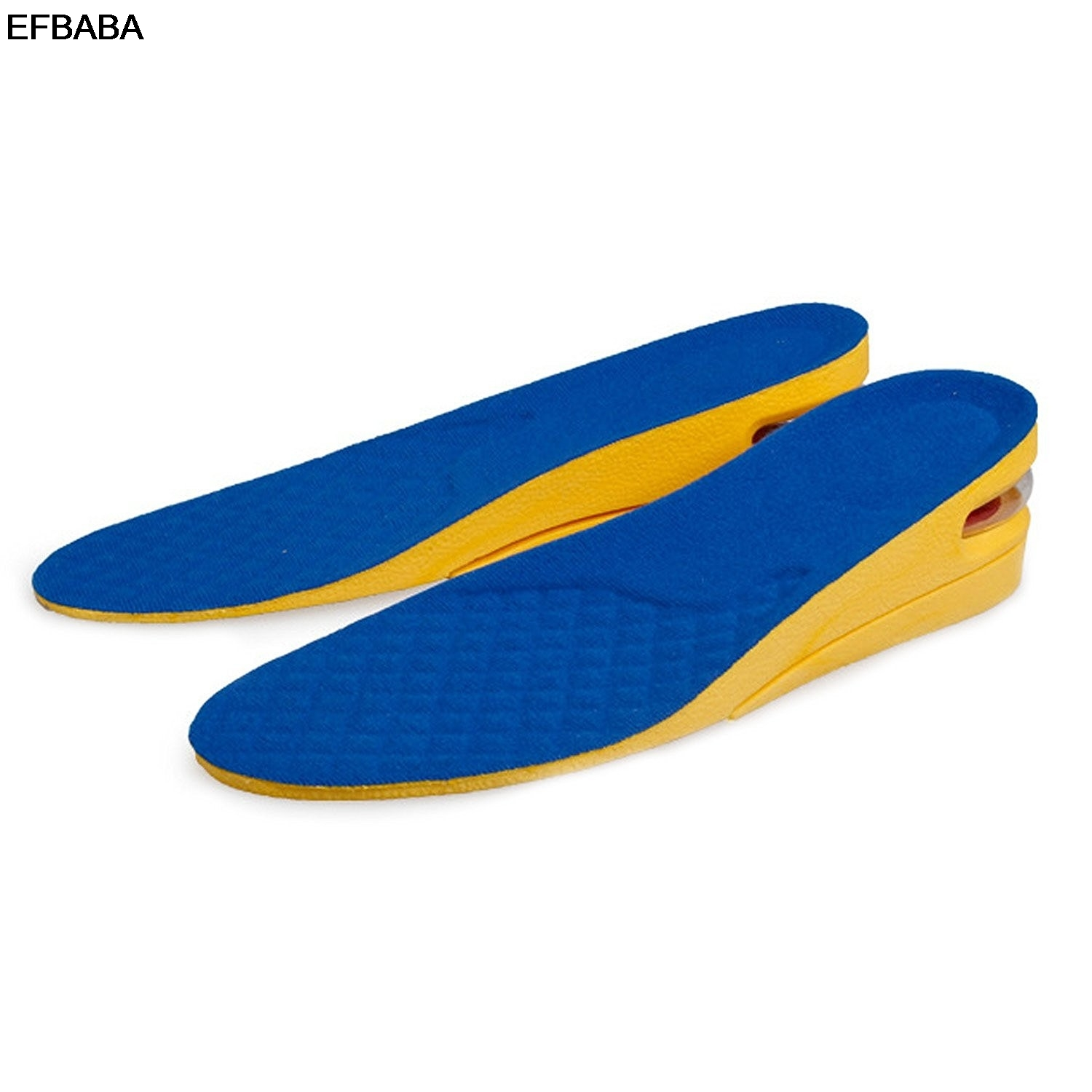 EFBABA Increased Insole Sweat Absorbent Breathable Damping Sports Insoles Men Women Shoes Pad Accessories Air Cushion 1.5- 5cm
