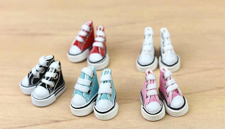 1 пара 3,5 см обувь из канвы для куклы блайз повседневная обувь для куклы Барби дом мини-обувь для 1/6 BJD модные аксессуары для кукол