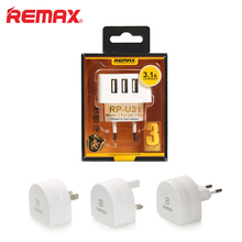Remax 5V3.1A Common Journey USB Charger Adapter EU US UK Plug Wall Cellular Telephone Good Charger for iPhone Pill Xiaomi SONY LG