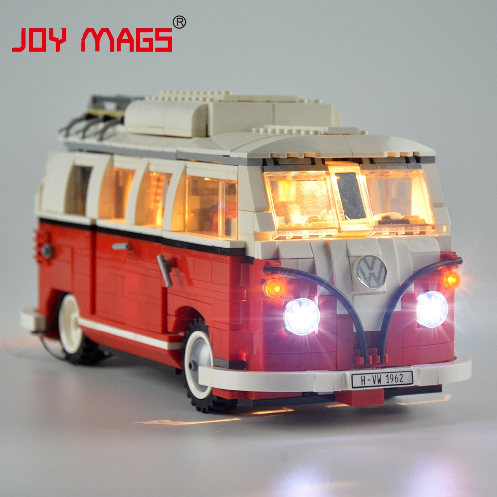 JOY MAGS Only Led Light Kit For Creator Volkswagen T1 Camper Van Light Set Compatible With 10220 And 21001 (Not Include Model) joy mags only led light set building blocks kit light up kit for creator series f40 car compatible with lego 10248 21004