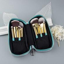 Anmor 9PCS Mini Zachte Make Up Kwasten Set Kit Draagbare Kabuki Borstel Voor Make up Professionele Cosmetische Reistas pincel maquiagem