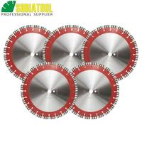 SHDIATOOL 5pcs 14/358MM Professional Laser welded Segmented Diamond Blade Turbo Cutting Disc Saw Blade For Reinforced concrete
