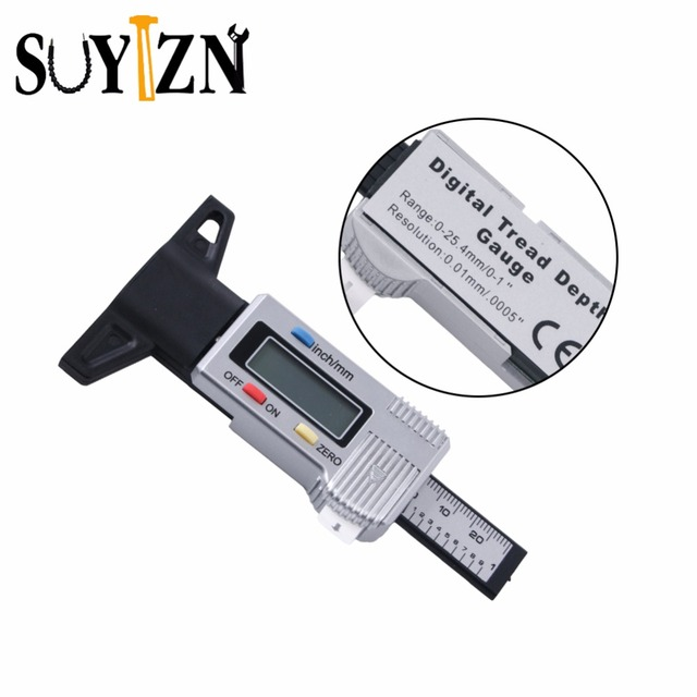 Brake Shoe Thickness In 32nds : Digital tread depth gauge tire thickness new car