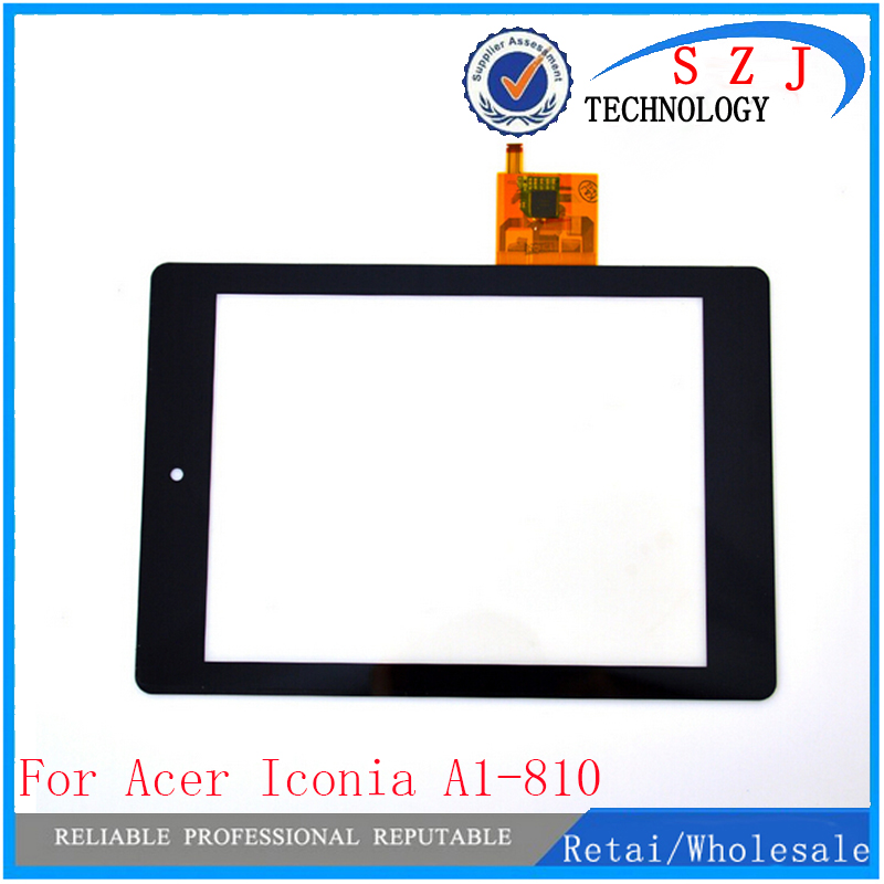 New 7.9'' Inch case For Acer Iconia Toch Screen Tab A1 A1-810 1-811  Black digitizer touch Panel Free shipping new original 11 6 inch lcd display panel touch screen digitizer assembly for acer iconia tab w700 repair tools free shipping