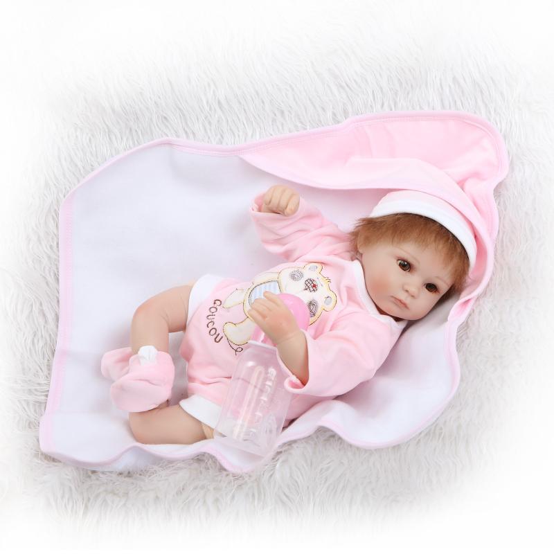 Cute 40cm Soft silicone reborn baby doll toys play house toys girl doll handmade lifelike fashion gifts for girls dolls fashion house
