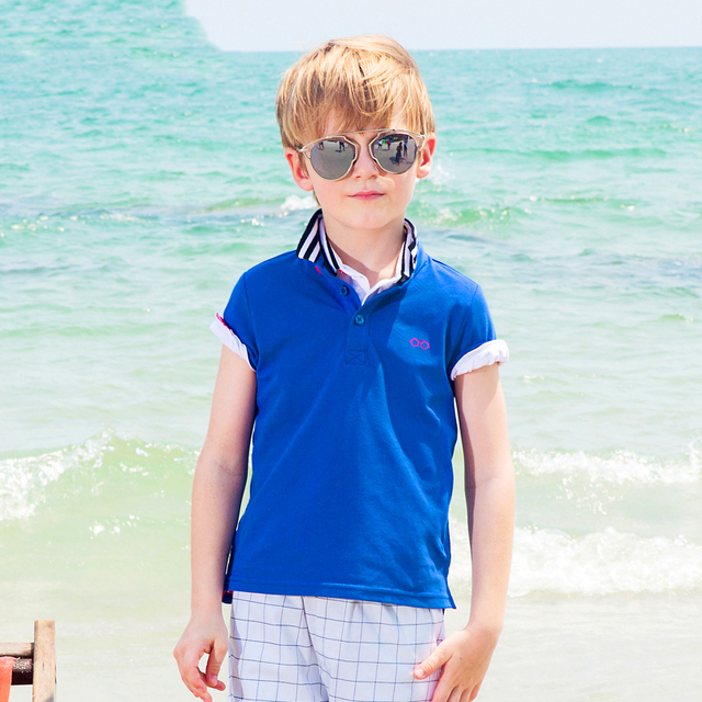 Kids Clothes Baby Boy Polo Shirt Short Sleeve Camiseta Infantil Clothing For Boys Polo Shirts Cotton For Children 50H016