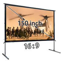 Hot Selling 16:9 Fast Fold Projector Projection Screen With Front View 130.7x73.5 inch Quick Install For Outdoor Indoor Movie