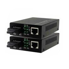 1 pair 10/100/1000 M Singlemode Kép Sợi Phương Tiện Truyền Thông Chuyển Đổi 20 KM Fiber optic media converter port RJ45 sc nối Vận chuyển Miễn phí