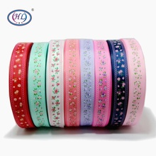 HL 1(25mm) 5 Meters/lot Little Flower Grosgrain Ribbons Wedding Party Decorative Gift Wrapping DIY Chilren Hair Accessories