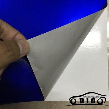 50 Cm X 150 Cm Glossy Logam Vinyl Film Permen Biru Gloss Mobil Wrap Foil dengan Gelembung Udara Gratis Mengkilap kendaraan Stiker Perekat