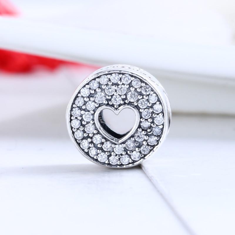 100% 925 Sterling Silver Fit Original Pandora Bracelet Luxury Anniversary Celebration Charm DIY Charm Beads for Jewelry Making