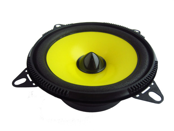 1pair [ Yellow ] classic car horn 4 inch car speaker monomer full range  speaker 12 60W free shipping-in Coaxial speakers from Automobiles &
