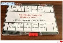 Envío Gratis, 1 Juego de lentes de aumento minerales de burbujas de diferentes tamaños para reloj de abertura para fecha en cristales