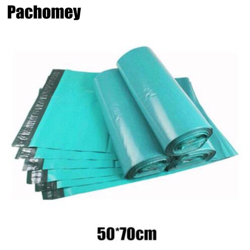 50*70 cm 녹색 셀프 인감 대형 폴 리 메일러 가방 불투명 우편 패키지 봉투 배송 강력한 폴 리 가방 메일러 자루 pp619-에서선물가방&포장용품부터 홈 & 가든 의  그룹 1