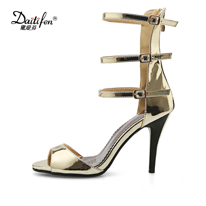 Daitifen 2018 sexy party wedding  shoes women thin high  heel roman Gladiator sandals platform open toe back zipper sandals ruuhee bikini swimwear women swimsuit bathing suit sexy brazilian push up beach 2017 bikini set maillot de bain femme biquini