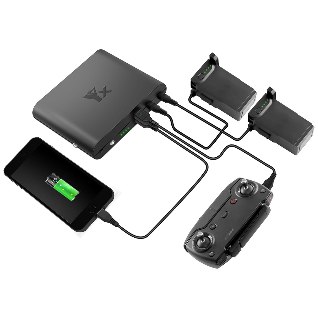 HOBBYINRC 4in1 Power Bank Mobile Power Transverter Outdoor Charger for DJI  Tello Drone for National Standard Plug / US Plug -in Drone Battery Chargers
