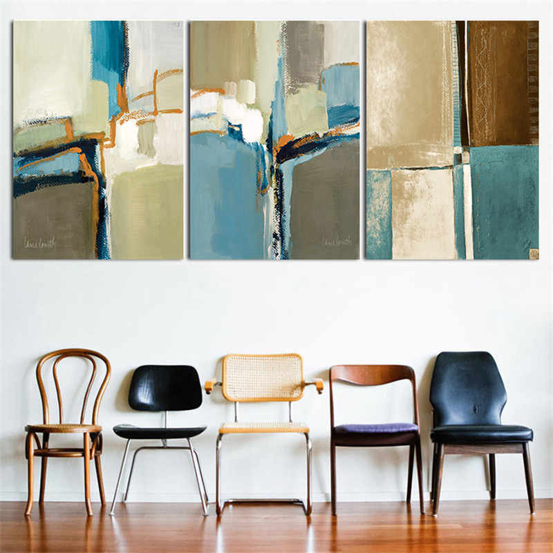 Home Decor Nordic Canvas Painting Wall Art Diy Abstract Color Block Picture Print Living R Office Hotel Backdrop Prop Supply