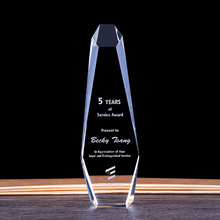 Customized Crystal Trophy Engraved Own Words Glass Sports Games Awards Contest Champion Award Cup Company Activity Souvenir