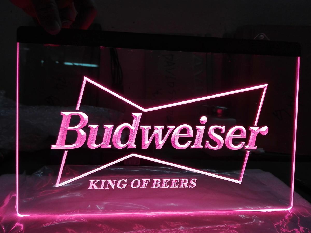 Aliexpress.com : Buy LE009 Budweiser King Beer Bar Pub
