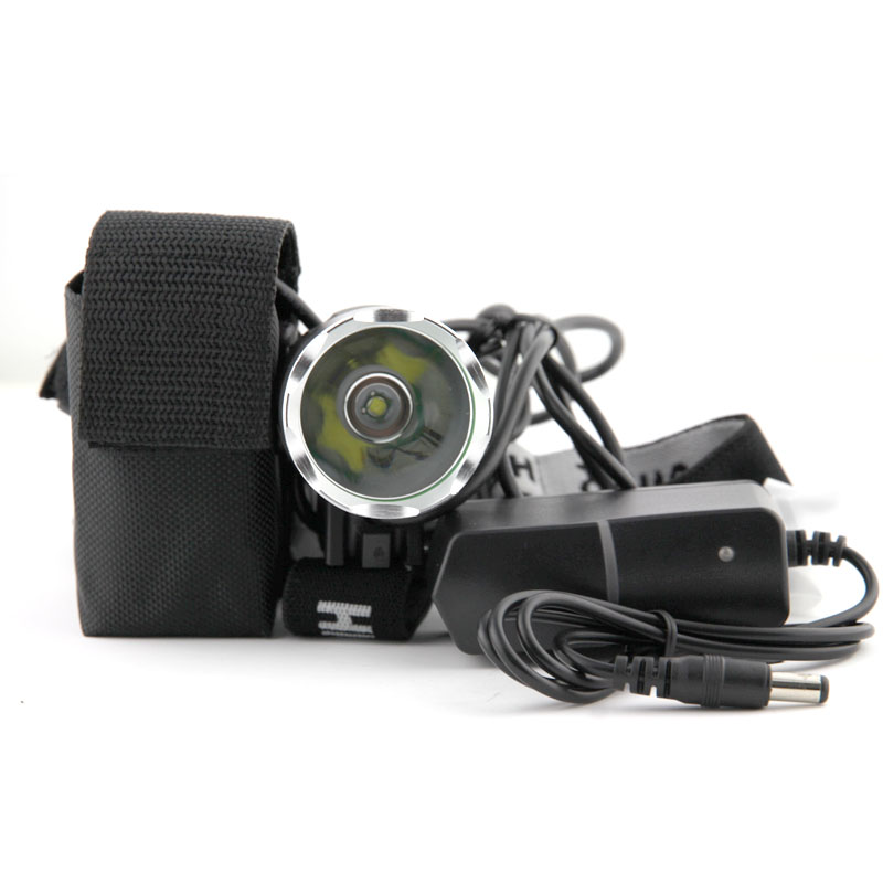 wholesale 6/piece HeadLight 1800 Lumens 3 Mode Waterproof Bike Front Light LED HeadLamp With Battery Pack & Charger
