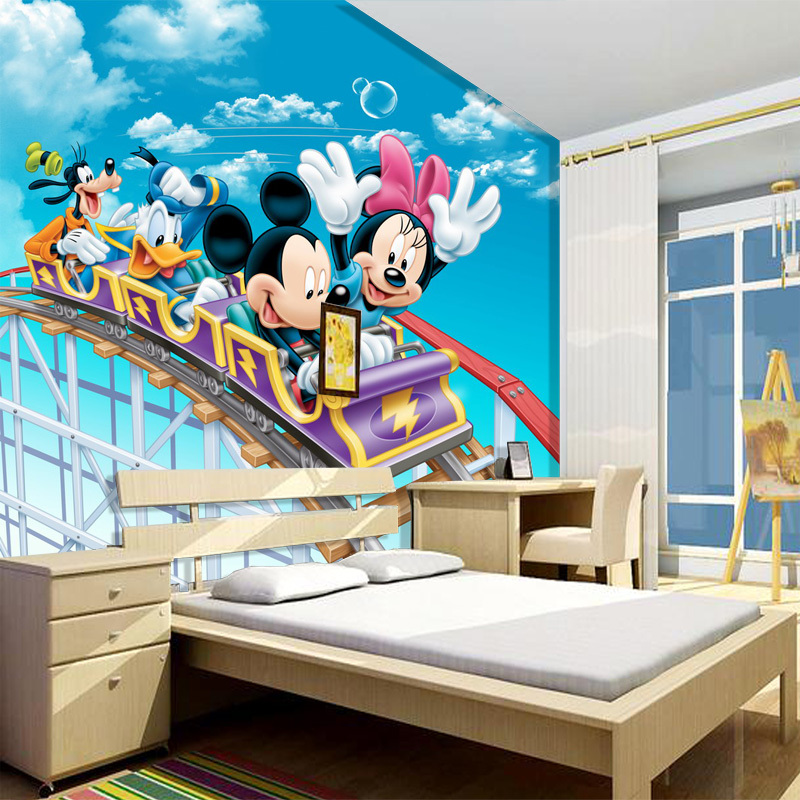 Wholesale 3d Wall Murals For Baby Kids Room 3D Photo Mural Mickey Mouse  Mural 3d Cartoon Part 93