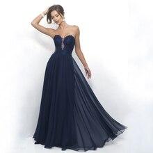 Heißer Verkauf Billig Navy Abendkleider Spitze appliques Lange abendkleid Schatz Backless Kleid Vestido De Festa