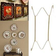 1 шт., новинка, высокое качество, для домашнего декора, нержавеющая сталь, держатель, пластина, крючки, на стену, весна, дисплей, декоративная тарелка, крюк, украшение