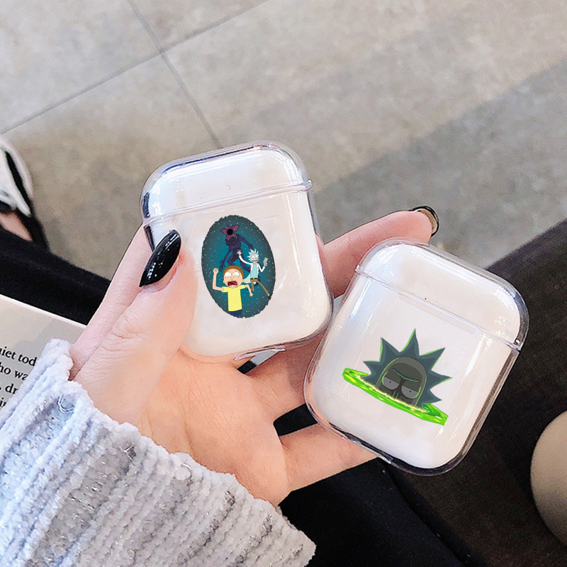 Case For Apple Airpods Case Cartoon Rick And Morti Wireless Bluetooth Earphone Case For Airpods Headphone Hard Protective Case
