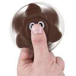 Emoji Poo Expression Fidget Spinner Colorful Hand Fidget DIY Spinner Alloy Finger Spiner Funny Adult Stress  Relieve Toy