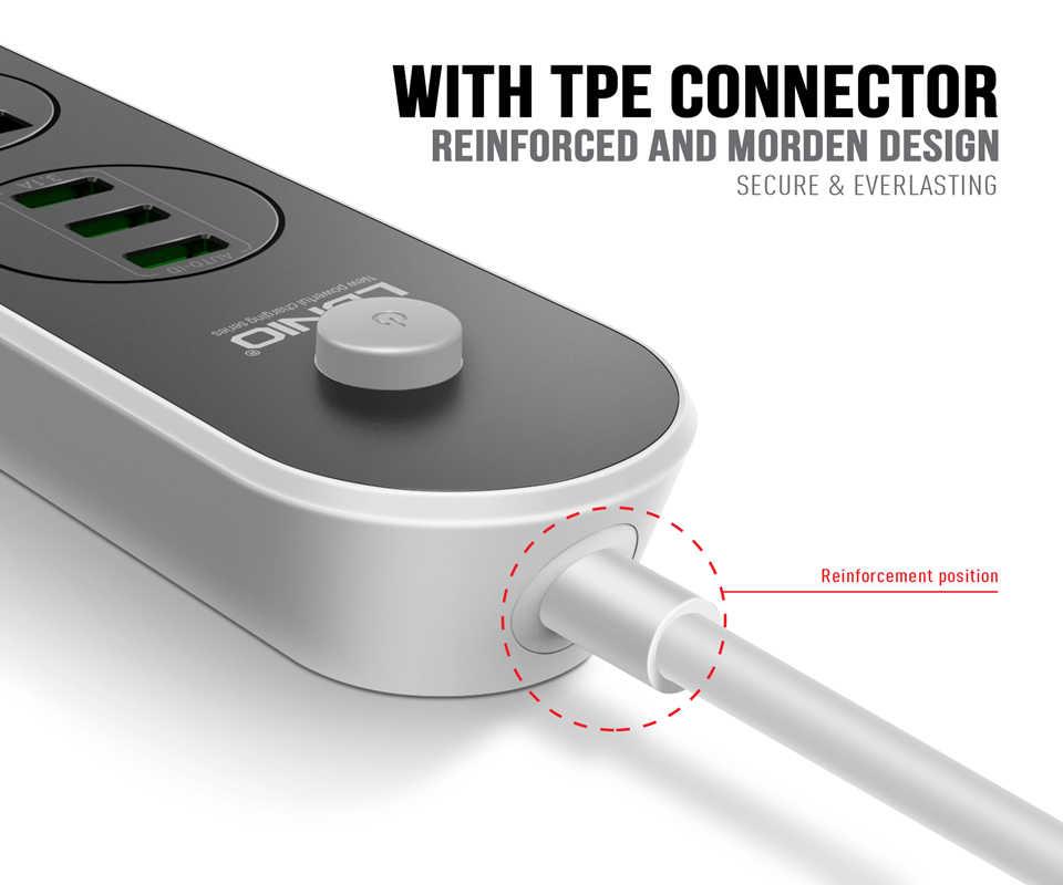 Ldnio الذكية USB محول شاحن سريع 3.1A 2.4A 2.1A 1A ذكي شحن 3 مقبس عالمي الاتحاد الأوروبي المملكة المتحدة محول شاحن السفر قطاع الطاقة