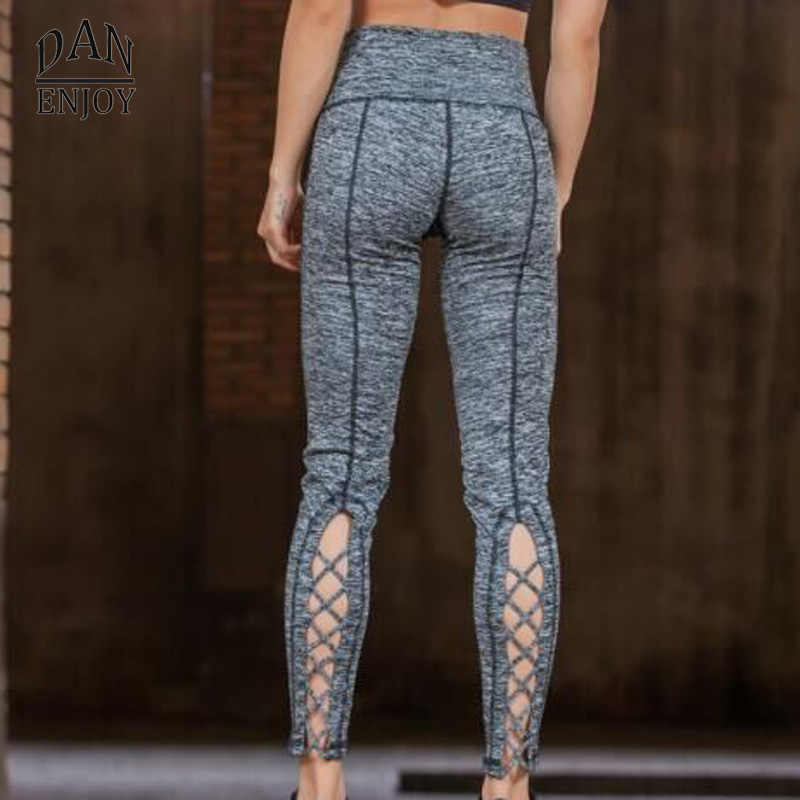 ccaae073771 ... DANENJOY Yoga Pants Women Sport Fitness Running Quick Dry Compression  Cross Tights Gym Leggings Elastic Trousers ...